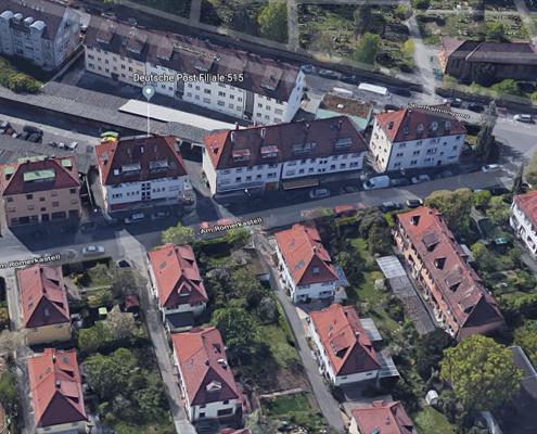 Unsere Zahnarztpraxis finden Sie Am Römerkastell 12 in Stuttgart