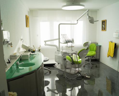 Behandlungsraum in der Zahnarztpraxis am Römerkastell